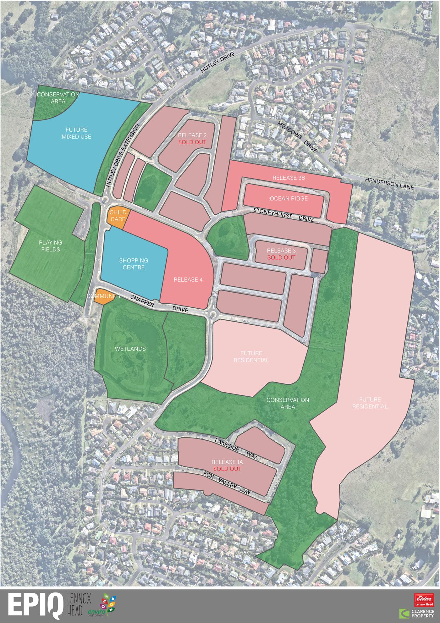 Epiq Lennox Head Masterplan Map